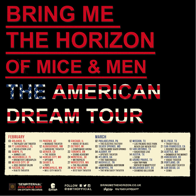 of mice and men announce new album and 2014 dates with bring me the horizon the front row. Black Bedroom Furniture Sets. Home Design Ideas