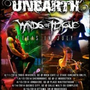 Unearth announce dates in US and Canada