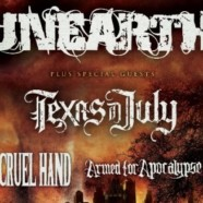 Unearth to tour with Texas in July, Cruel Hand and Armed for Apocalypse
