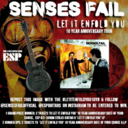Senses Fail celebrate 10 year anniversary of Let It Enfold You with tour and vinyl