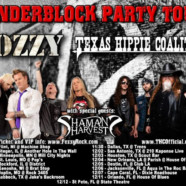 Fozzy announces Cinderblock Party Tour with Texas Hippie Coalition