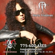 Marty Friedman joins Axes and Anchors Cruise