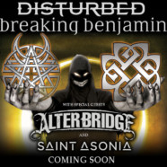 Breaking Benjamin and Disturbed announce dates for co-headline tour