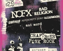 "Fat Mike Presents ""Punk In Drublic Craft Beer & Music Festival"" 10/21 In Phoenix With NOFX, Bad Religion, Goldfinger, Authority Zero, Guttermouth & More"