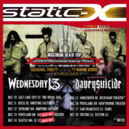 Davey Suicide announces dates with Static X and Wednesday 13