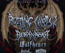 Rotting Christ selling tour shirts for charity