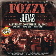 Fozzy Announces Capturing Judas Livestream Event